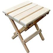Табурет складной деревянный фото