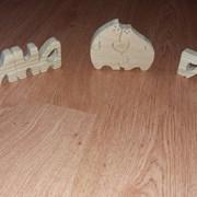 Сувенир деревянный Ручная работа Буквы-имя фото