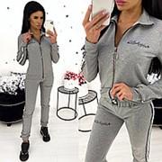Стильный спортивный костюм женский с лампасами (4 цвета) АА/-1322 - Серый меланж фото