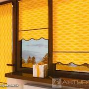 Роллета желтая с волнистым краем фото