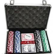 Покерный набор в алюминиевом кейсе на 200 фишек фото