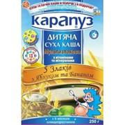 Каша Карапуз мультизлаковая 5 злаков с бананом, яблоком фото