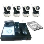 """Комплект видеонаблюдения с жестким диском """"Zodiak Combo 4 Wi-Fi Home Storage"""" (4 WiFi камеры+регистратор+архив) фото"""