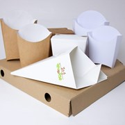 Изготовление упаковки для фаст-фуда фото