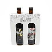 Подарочная упаковка для бутылок 218*200*60 мм фото