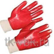 Перчатки с ПВХ покрытием красные Гранат фото