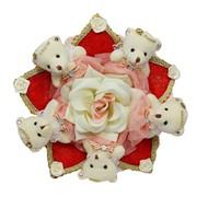Букет из мягких игрушек Розовый аромат 4040 фото