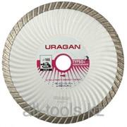 Круг отрезной алмазный Uragan Турбо +, эвольвентный, для УШМ, 115х22,2мм Код: 909-12151-115 фото