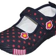 Туфли дошкольные с верхом из текстильных мат-в 43544 фото