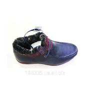 Зимние кожаные ботинки арт. 50270 фото