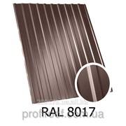 Профнастил ПС-12 коричневый 8017 1,17х1,5 фото