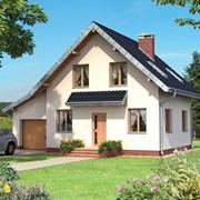 Двухэтажный мансардный каркасный дом Комбинация фото