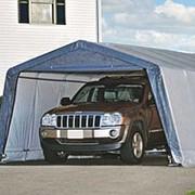 Тентовый гараж для дачи сборный ShelterLogic 3,7х6,1х2,5 м фото