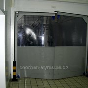 Распашные пленочные ворота DoorHan одностворчатая фото