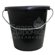 Ведро 10 л с метал ручкой хозяйственное черное тм полимерагро 87110 фото
