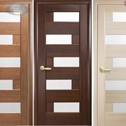 Дверь из бруса Новый стиль Пиана ясень фото