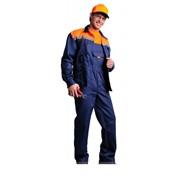 Рабочая одежда Костюм ИТР Авангард, цвет темно-синий/оранжевый фото