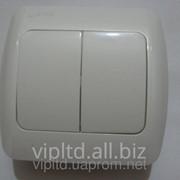 Выключатель ZIRVE 2-й белый FIXLINE 501-0201-202