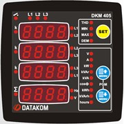 DATAKOM DKM-405 Анализатор сети, 170-275V питание, 96x96mm, доп вход/выход фото