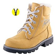 652049-51 желтый ботинки школьные нат. кожа 32-1, 33-1, 34-1, 35-1, 36-1, 37-1, 37,5-1 Р-р 33 фото