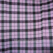 Ткань Шотландка стрейч (розовая) фото