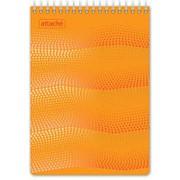 Блокнот WAVES оранжевый А5 спираль 50л. пласт. фото