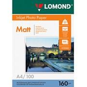 Фотобумага струйная A4 Lomond матовая 160г-100листов фото