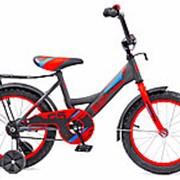 Велосипед Black Aqua DK-1405 14 (Серый+красный) фото