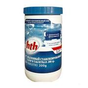 Медленный стабилизированный хлор в таблетках, 200 г, 1,2 кг, hth. фото