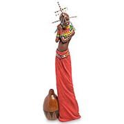 "Скульптура ""Девушка племени Масаи""/Африканка 13,5х41х7см. арт.WS-730 Veronese фото"