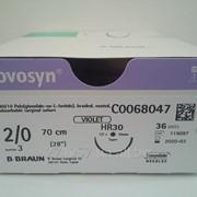 Новосин Novosyn B. Braun C0068047, полигликолиевая кислота 2/0, игла колющая 30 мм, 1/2 окружности, 36 шт/уп. фото