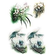 Декупажная карта ДБ Райские птицы 6 фото