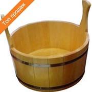Шайка для бани и сауны лакированная на 5 л фото