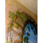 Настенная роспись, рельефная роспись, панно фото