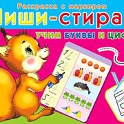 """Развивающий набор Пиши-Стирай """"Учим буквы и цифры"""", (Рыжий кот) фото"""