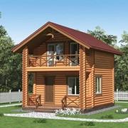 Проект дом из оцилиндрованного бревна под ключ,d 220мм площадью 6000×6000×3900мм фото