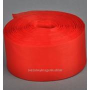Лента шелковая 50 мм, красный (рул/90 м) фото