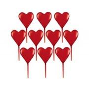 Пика для канапе Сердце пласт 7 6см 10шт А фото