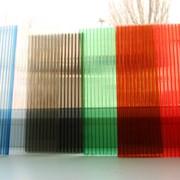 Сотовый поликарбонат 2,1х6м 4 мм цветной и прозр фото