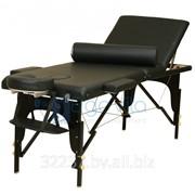 Складной массажный стол деревянный ErgoVita MASTER PLUS 67 см+ валик в съемной сумке (3-х секц,черный) фото
