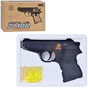 Пистолет ZM02 металлический на пульках (6мм) фото