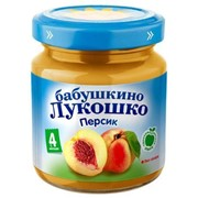 Б.лукошко пюре из персиков (с 4 мес) 100г фото