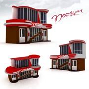 Дизайн экстерьеров зданий, дизайн наружного оформления зданий фото