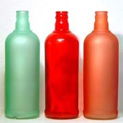 Окрашивание стеклянных бутылок фото