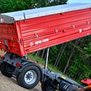 Прицеп тракторный самосвальный Metal-Fach Т-711/3 с надставными бортами фото