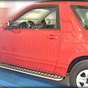 Пороги Suzuki Grand Vitara 2008-2011 3 дв. (с листом 43 мм) фото