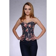 Корсет джинсовый женский MH57 фото