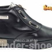 Полуботинки Kinder-Shoes Д-732чк. р36-38 черные фото
