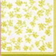 Салфетки бумажные жёлтые фото