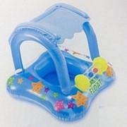 Круг для плавания с навесом, с сиденьем 81x66см Intex 56581, для 1-2 лет фото